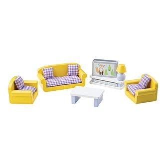 Tidlo Dřevěný nábytek obývací pokoj fialový