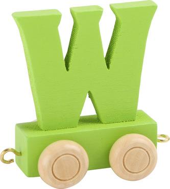 Dřevěný vláček barevná abeceda písmeno W
