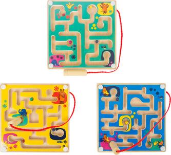Magnetický labyrint Myš 1ks  žlutá