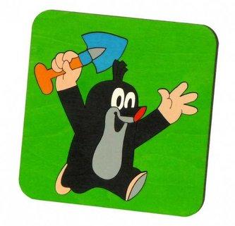 DoDo Skládací obrázek puzzle krteček s lopatkou
