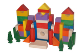 EkoToys Dřevěné kostky barevné 50 ks