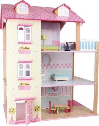Small Foot Domeček pro panenky růžová vila