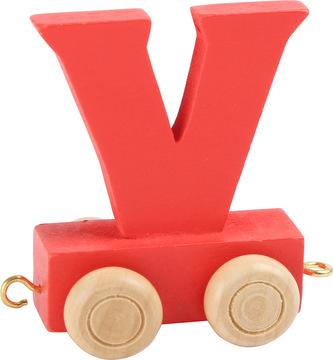 Dřevěný vláček barevná abeceda písmeno V