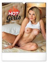 Kalendář 2021 nástěnný: Hot Girls, 30 × 34 cm