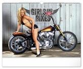 Kalendář 2021 nástěnný: Girls & Bikes – Jim Gianatsis, 48 × 33 cm