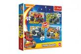 Puzzle 4v1 Čtyřkoláci/Blaze a přátelé 20,5x28,5cm v krabici 28x28x6cm