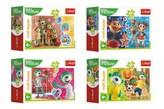 Minipuzzle 54 dílků Veselý svět Trefliků/Treflíci v krabičce 9x6.5x4cm / 4 druhy