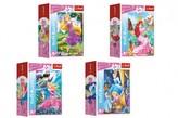 Minipuzzle 54 dílků Dobrodružný svět princezen 4 druhy v krabičce 9x6.5x4cm