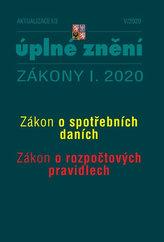Aktualizace I/3 2020 Spotřební daně, Rozpočtová pravidla