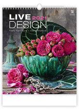 Kalendář 2021 nástěnný Exclusive: Live Design, 450x520