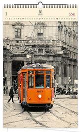 Kalendář 2021 dřevěný: Tram, 340x555