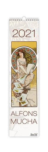 Kalendář 2021 nástěnný: Alfons Mucha, 120x480