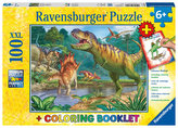 Puzzle Svět dinosaurů/100 dílků+omalovánky