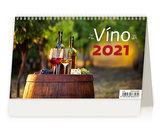 Kalendář 2021 stolní: Víno ČR/SR, 226x139
