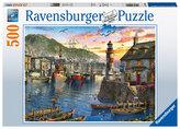 Puzzle Východ slunce v přístavu 500 dílků