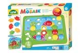 Mozaika klobouček příroda 3,2cm hladký 36ks + předlohy 7ks pro nejmenší v krabici 33x24x4cm 24m+