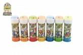 Bublifuk 60ml FOTBAL-mistrovství světa! mix barev v plastové lahvičce 3.5x11cm