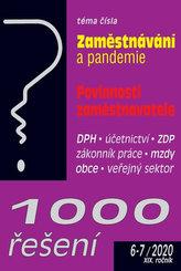 1000 řešení 6-7/2020 - Zaměstnávání a pandemie, Povinnosti zaměstnavatele