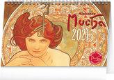 Stolní kalendář Alfons Mucha 2021