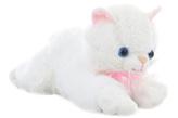 Plyš Kočka bílá 30 cm