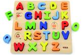 Dřevěná vkládačka - písmena