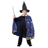 Dětský kouzelnický modrý plášť s hvězdami, Čarodějnice / Halloween