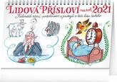Stolní kalendář Lidová přísloví na rok 2021