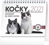Stolní kalendář Kočky se jmény koček 2021