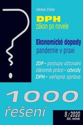 1000 řešení 8/2020 - Zákon o DPH po novele, Ekonomické dopady pandemie
