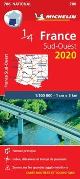 Southwestern France - Michelin National Map 708