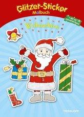 Glitzer-Sticker Malbuch Weihnachten