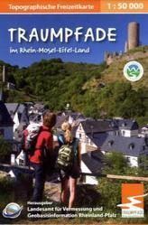 Topographische Freizeitkarte Rheinland-Pfalz Traumpfade im Rhein-Mosel-Eifel-Land