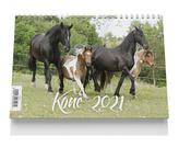 Stolní kalendář - Koně 2021