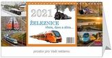 Železnice včera, dnes a zítra - stolní kalendář 2021