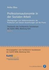 Professionsautonomie in der Sozialen Arbeit