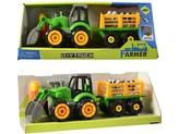 Traktor s vlečkou, na šroubování, 32cm