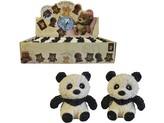 Panda softová, 8 cm, 24 ks v boxu