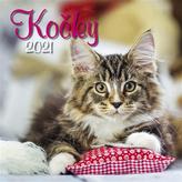 Kalendář 2021 - Kočky, nástěnný