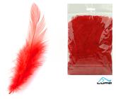 Peří barevné 10g červené