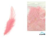 Peří barevné 10g růžové