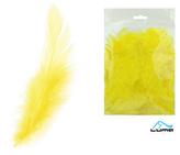 Peří barevné 10g žluté