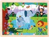 Dřevěné puzzle Džungle
