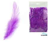 Peří barevné 10g fialové