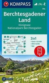 Kompass Karte Berchtesgadener Land, Königssee, Nationalpark Berchtesgaden