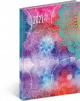 Týdenní diář Cambio Fun 2021, Mandala, 15 × 21 cm