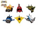 Letadlo 3ks kov/plast 6,5cm na zpětné natažení 2 druhy v krabičce 9x22x3,5cm