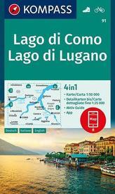 Lago di Como, Lago di Lugano 1:50 000