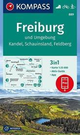 Freiburg und Umgebung, Kandel, Schauinsland, Feldberg 1:25 000