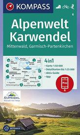 Alpenwelt Karwendel Mittenwald, Garmisch-Partenkirchen 1:50 000