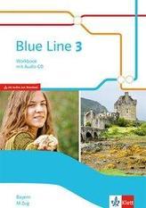 Blue Line 3 M-Zug. Workbook mit Audio-CD Klasse 7. Ausgabe Bayern